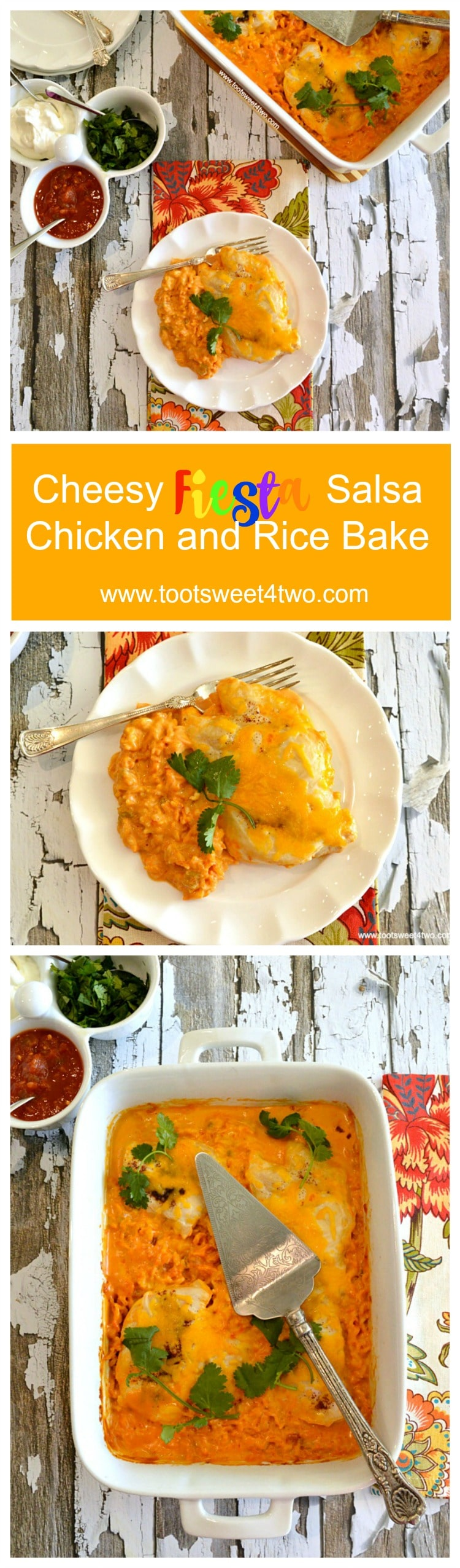 Cheesy Fiesta Salsa Chicken and Rice Bake - Pinterest