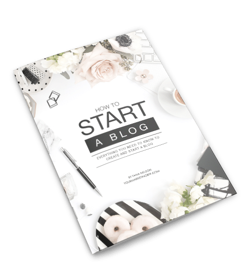 Ebook as flatlay_transparent background - Starting a Blog