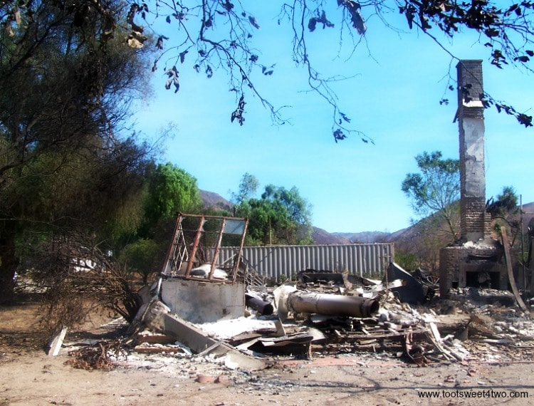 Our burned out house - Official Fire Alert