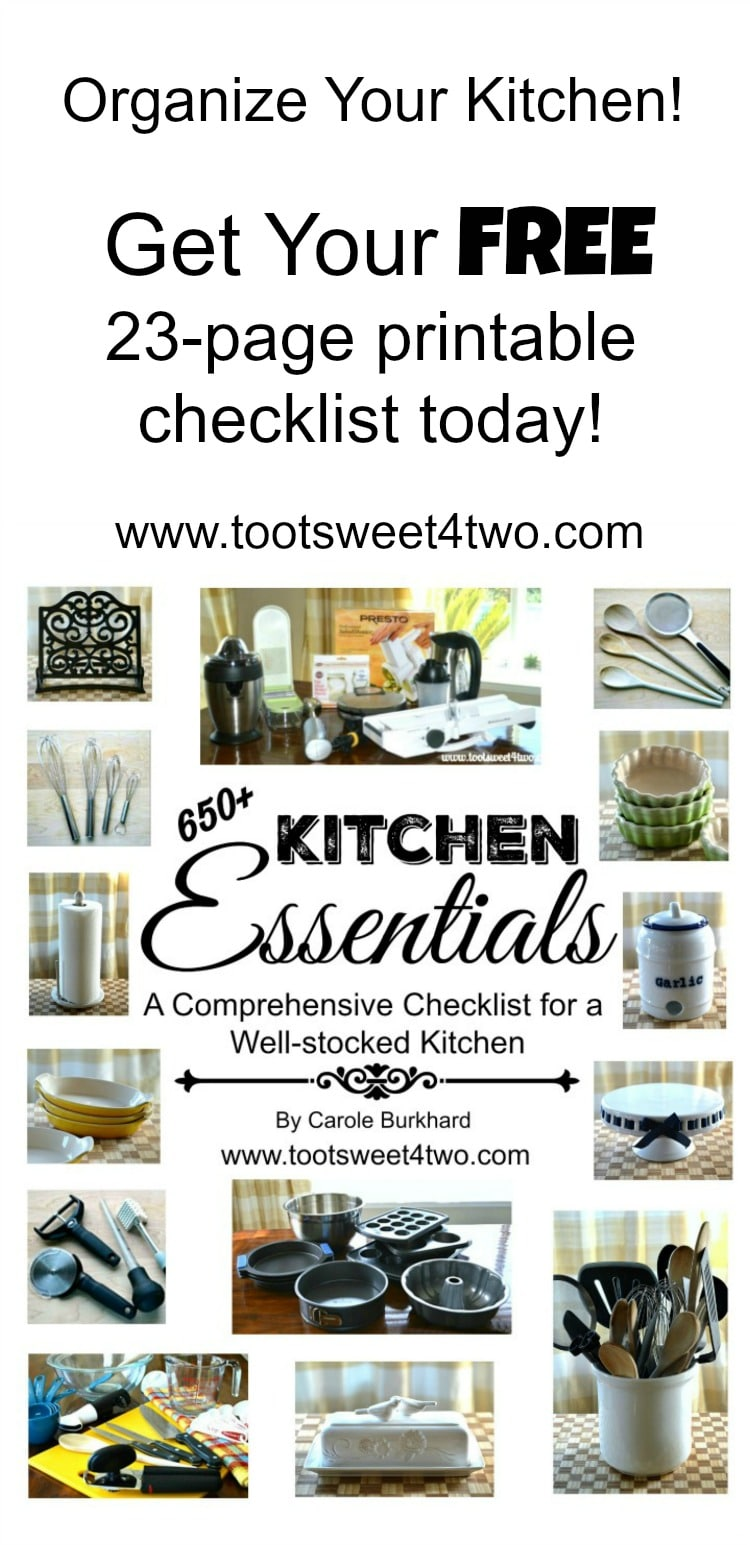 Do you love to cook? Are you a foodie that dreams of the ultimate kitchen with gadgets galore? Get your FREE printable guide! | www.tootsweet4two.com
