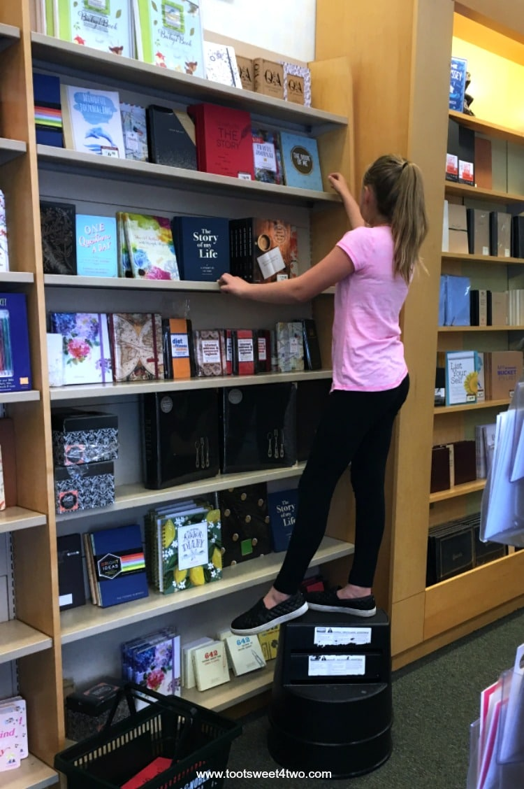 Picking just the right book at the bookstore